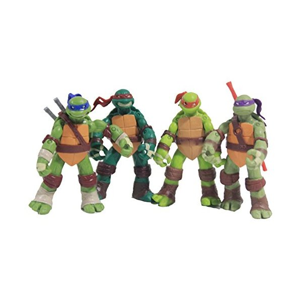 NuoYa Teenage Mutant Ninja Turtles Classic Collection 12cm Figure 4pcs Set Green, Free