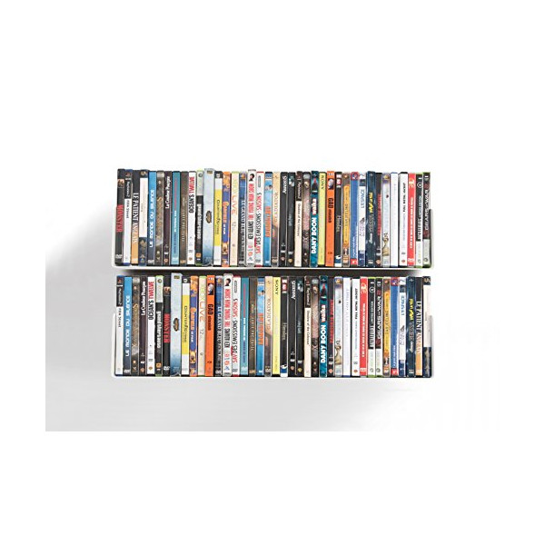 DVD and CD shelves - Set of 2 UCD TEEbooks - Supports up to 112 CDs / 80 DVDs - White