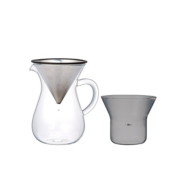 Kinto 300 ml Carafe Coffee Set with Stainless Steel Filter