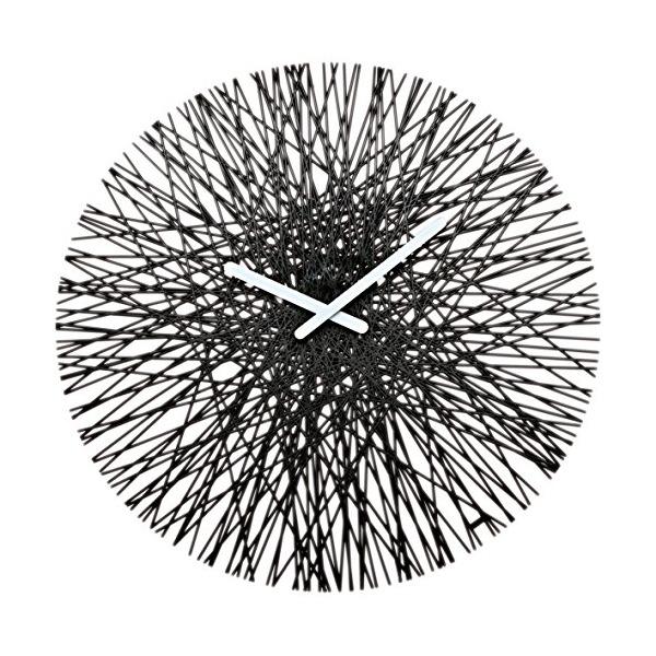 koziol SILK Wall Clock, black