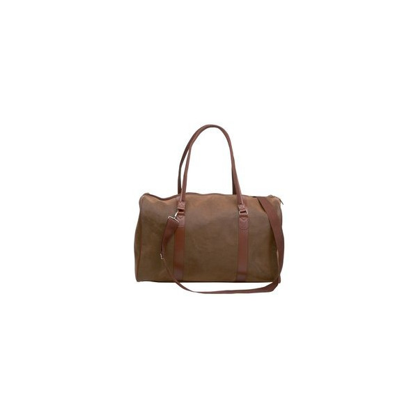 """Embassy Travel Gear 21"""" Brown Faux Leather Tote Bag"""