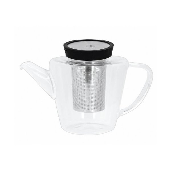 Viva Scandinavia Infusion Glass Tea Pot, 33.8-Ounce, Black