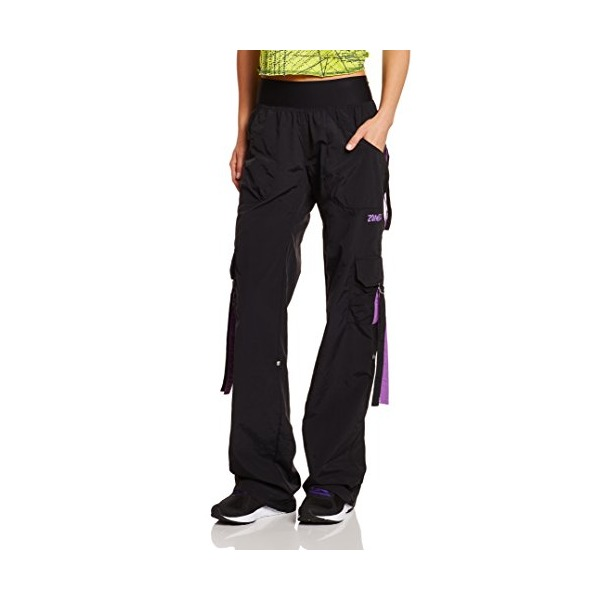Zumba Fitness Stellar Samba Cargo Pants (Small, Black)