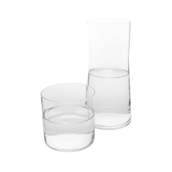 Canvas Home Glass Bedside Carafe with Tumbler