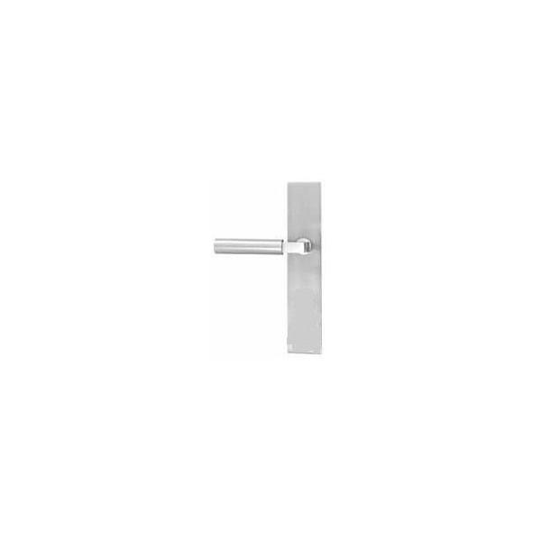 Emtek Products Non-Keyed, Passage Stainless Steel Plate Modern Patio Door Hardware (12B2-SS)