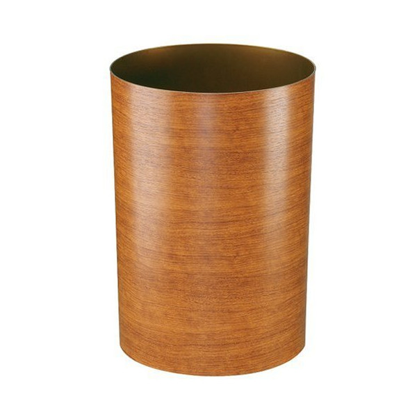 Umbra Treela 3-Gallon Polypropylene Waste Can, Cherry Wood grain
