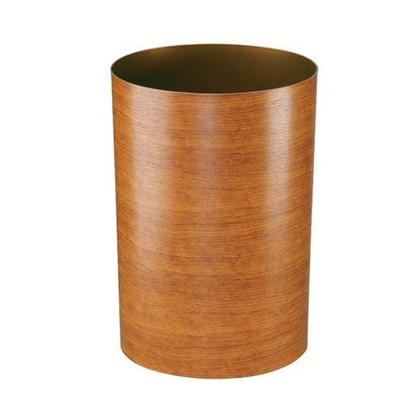 Umbra Treela 3-Gallon Polypropylene Waste Can, Cherry Wood grain