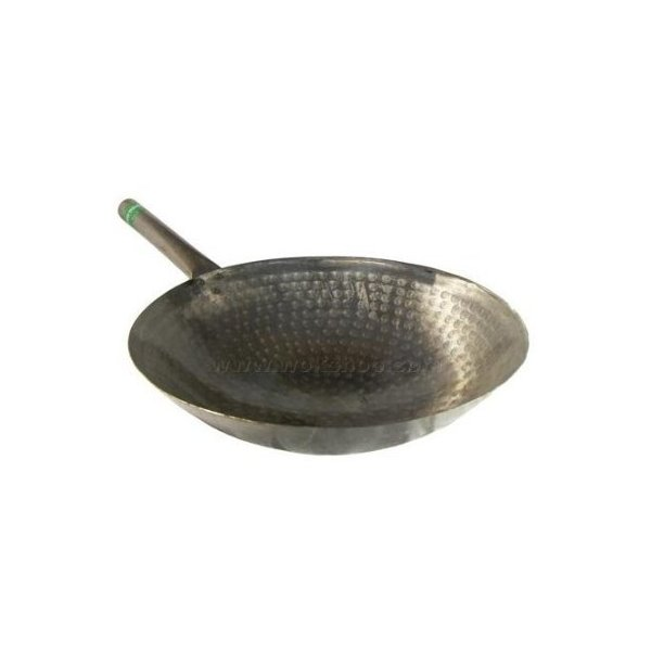 The Wok Shop's 16 Inch Carbon Steel Pow Wok w/ Metal Handle (Hand Hammered)
