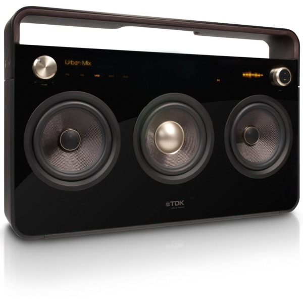 TDK Life on Record 3-Speaker Boombox Audio System