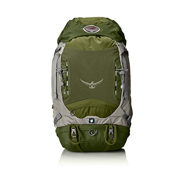 Osprey Packs Kestrel 48 Backpack (Conifer Green, Small/Medium)