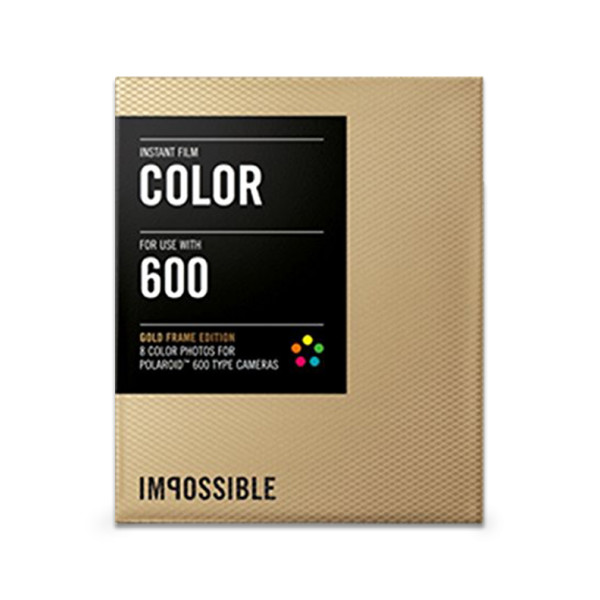 Color Film for Polaroid 600-Type Camera Frame (Gold)