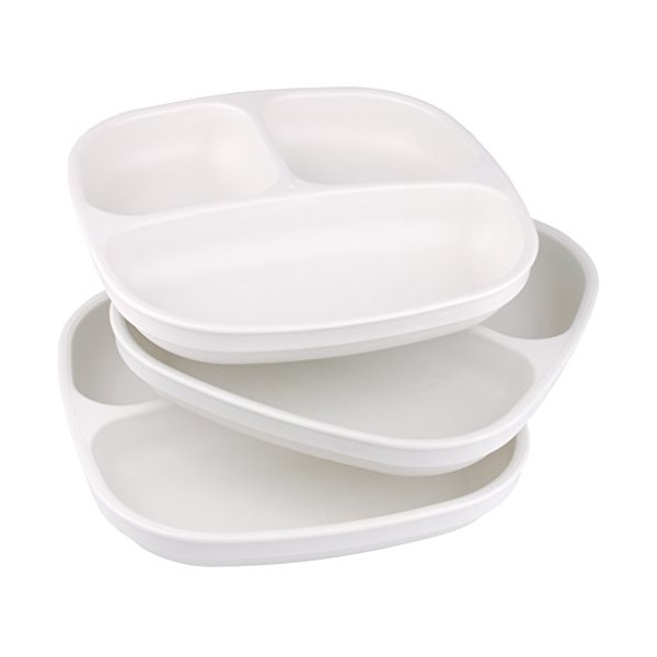 Re-Play 3pk Divided Plates (White)