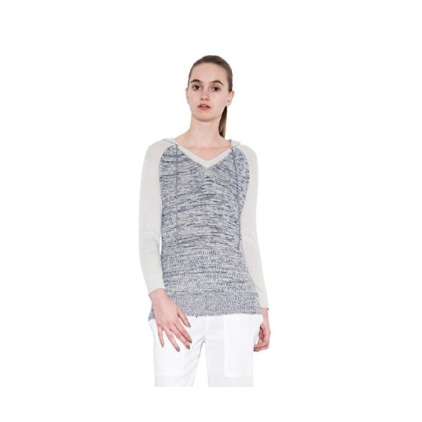 Bondi Marled Gray Long Sleeve Pullover Knit Top for Women by One Grey Day-M