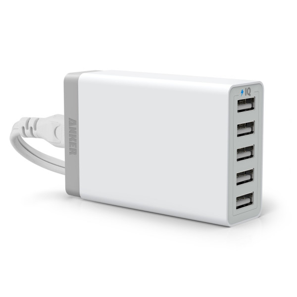 40W 5-Port Family-Sized Desktop USB Charger
