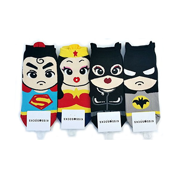 JJMax Women's Superheroes and Villains Ankle Socks Set