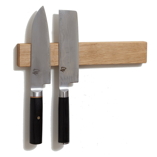 White Oak 12 Inch Magnetic Knife Holder