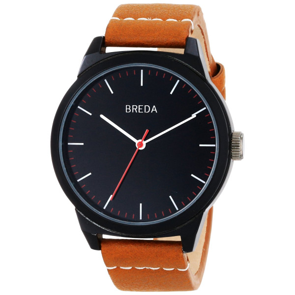Breda Men's Analog Display Quartz Brown Watch
