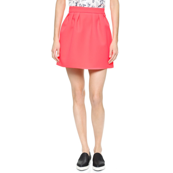 Maison Kitsune Double Face Ballerina Skirt, Pink Fluo