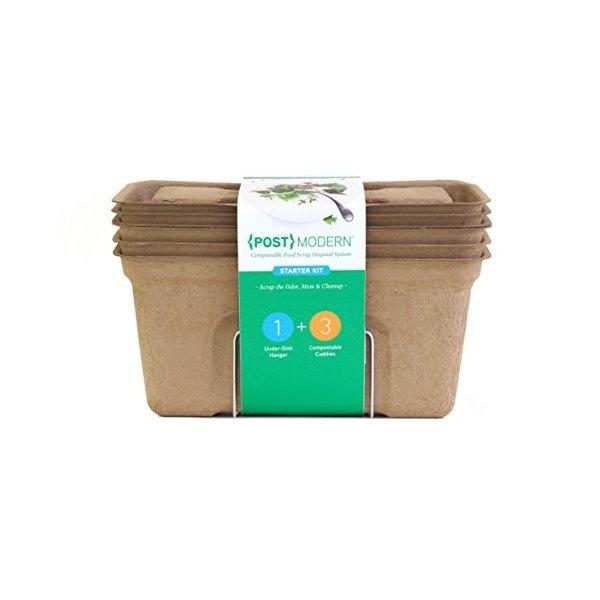 {POST}MODERN Compostable Food Scrap Disposal System, Starter Kit