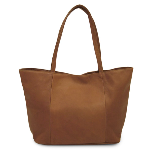Piel Leather Tote, Saddle