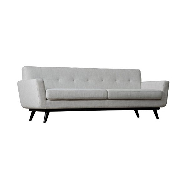 TOV Furniture James Mid-Century Modern Linen Sofa, Beige