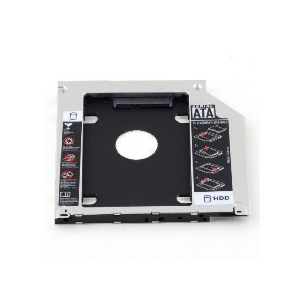 "SATA 2.5"" / 9.5mm 2nd Hard Disk Drive Caddy Adapter Special Designed For Apple macbook pro (13,15,17) SuperDrive MB466LL/A MB207LL/A MB470LL/A MB226LL/A MB724LL/A MB375LL/A"