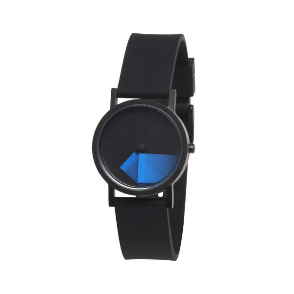 Déjà Vu Watch Blue Black Silicone Band 33mm