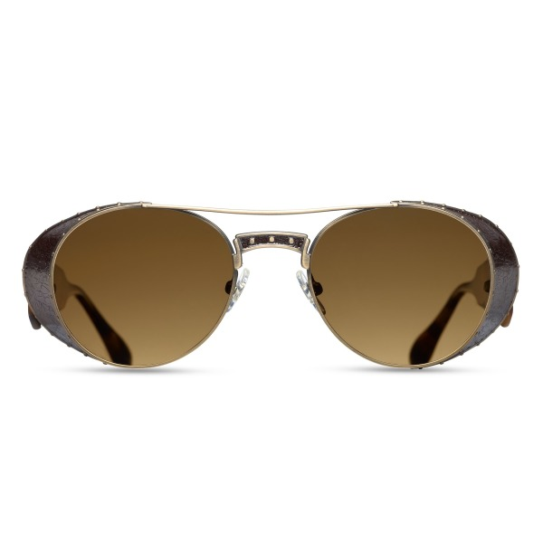 Matsuda M3032 Antique gold Round Polarized Sunglasses