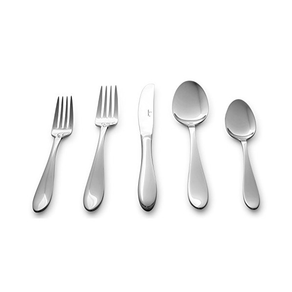 Culina Lorena 20 pcs Flatware for 4 18/10 Stainless Steel Silverware, Mirror Finish