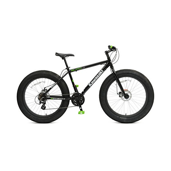 Kawasaki Sumo 4.0 Fat Tire Bicycle (26-Inch), Black