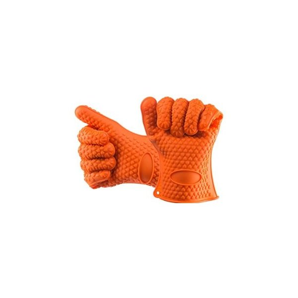BBQ Dragon Silicone Heat Resistant Grilling Gloves Set