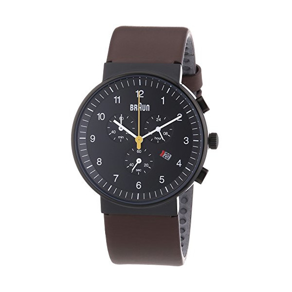 Braun Men's BN0035BKBRG Classic Chronograph Analog Display Japanese Quartz Brown Watch