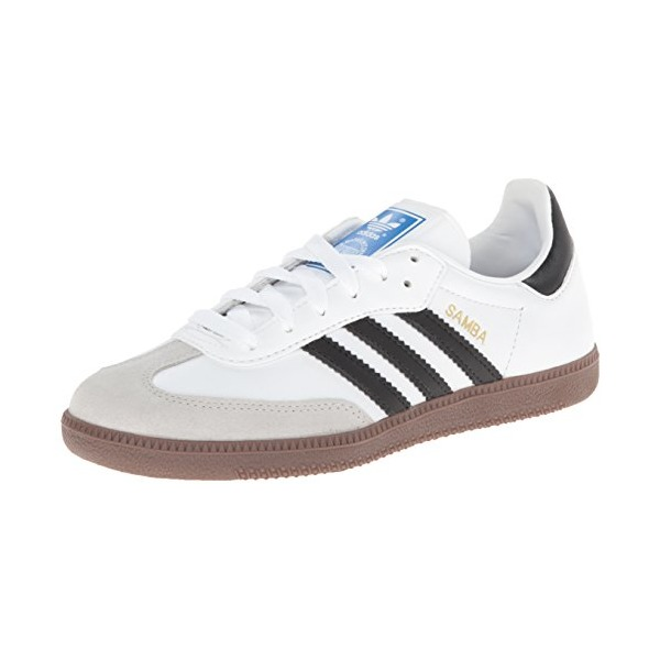 adidas Originals Men's Samba Soccer-Inspired Sneaker,White/Black/Gum,9 M US