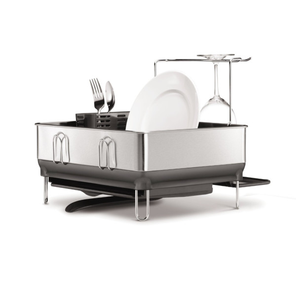 simplehuman Compact Steel Frame Dishrack, White