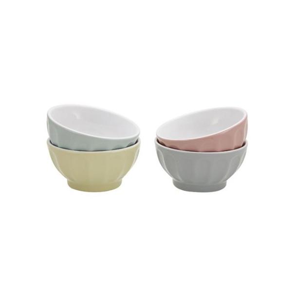 4 1/4 Inch Round Stoneware Bowl, Blue