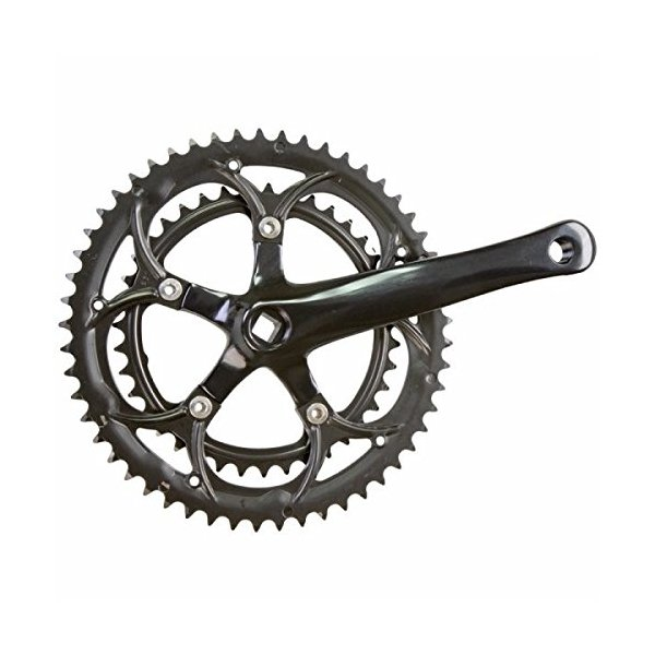 Sunlite Alloy Double Crankset - 170 x 53/39, Square Taper, Black