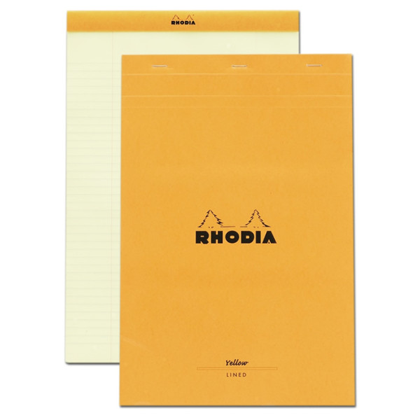 Rhodia Classic Orange Notepad, Lined, 8.5x11.75, No. 19