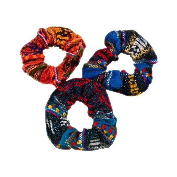 Hair Scrunchies 10 Pack Assorted Colors Fair Traded Peru