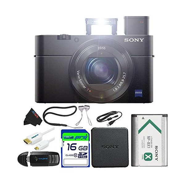 Sony DSC-RX100 Mark III Cyber-shot Digital Still Camera + 16GB Pixi-Basic Accessory Bundle