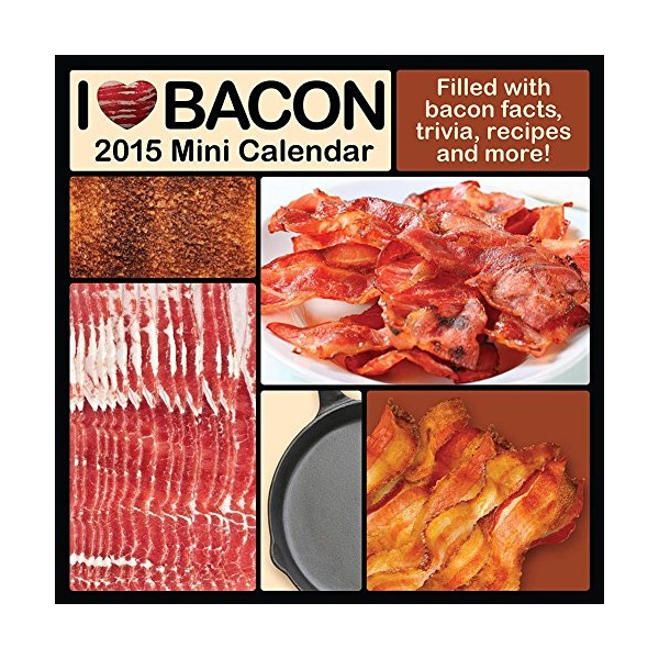 2015 I Love Bacon Mini Wall Calendar NMR Calendars