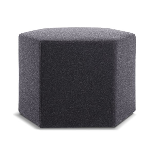 Blu Dot Hecks Ottoman, Thurmond Charcoal