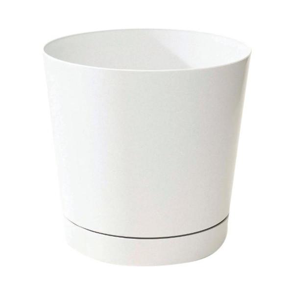 Novelty 10082 Full Depth Round Cylinder Pot, White, 8-Inch