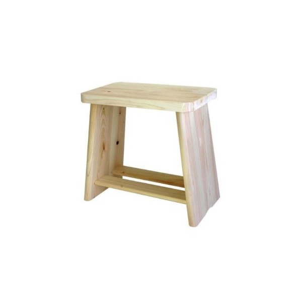 Made in Japan Hinoki Isu Pure Wood Slim Type Bath Stool