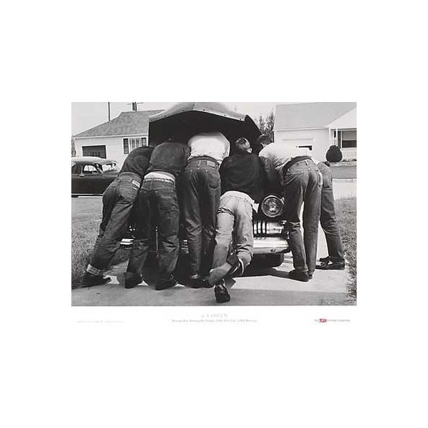 "Boys with Their First Car, 1957 by A.Y. Owen 28""x20"" Art Print Poster"
