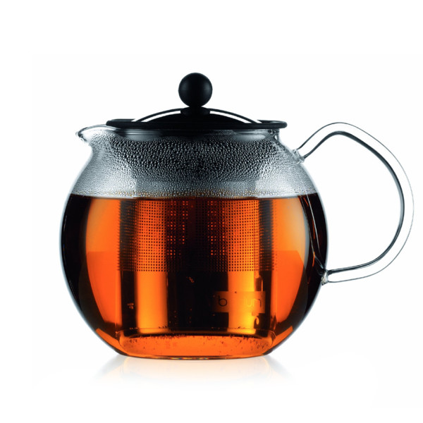 Bodum Assam 34-Ounce Glass Teapot with Stainless-Steel Filter