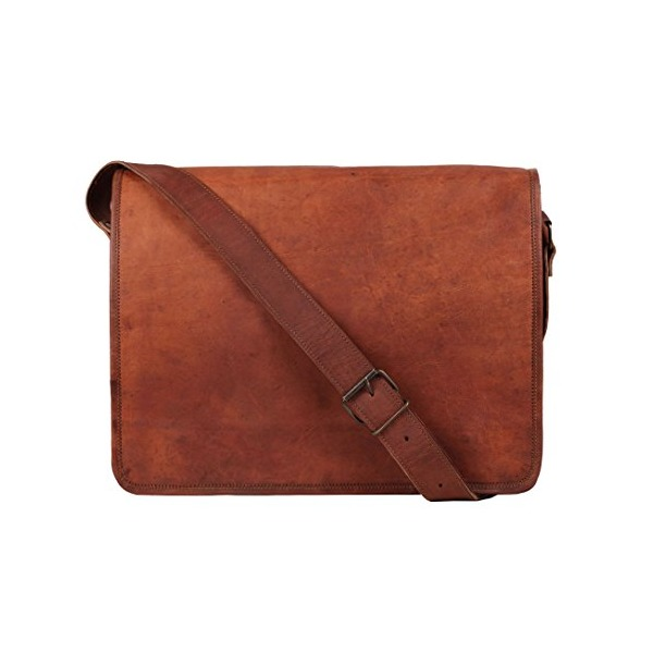 Rustic Town Leather Messenger Bag for Men Leather Laptop Bag Shoulder Bag