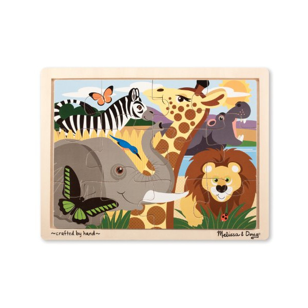 Melissa & Doug African Animals Jigsaw Puzzle (12-Piece)