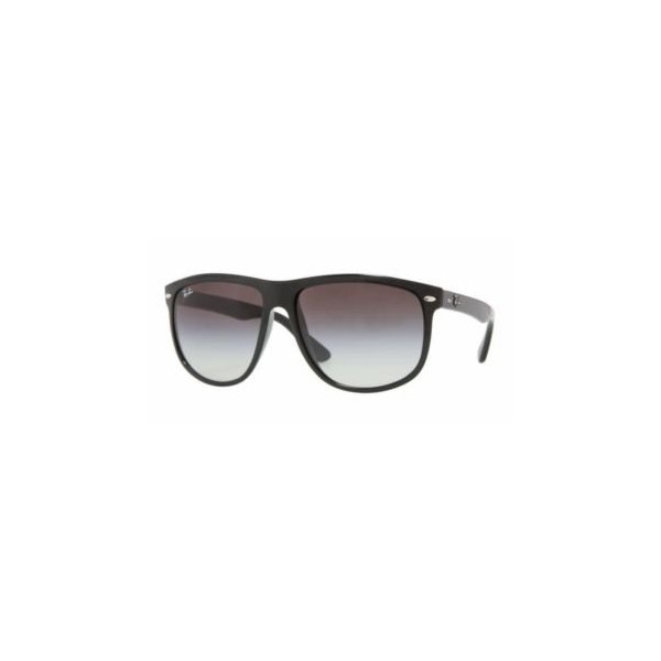 Ray-Ban Rb4147 Flat Top Boyfriend Sunglasses  Non-Polarized, Black/Grey Gradient