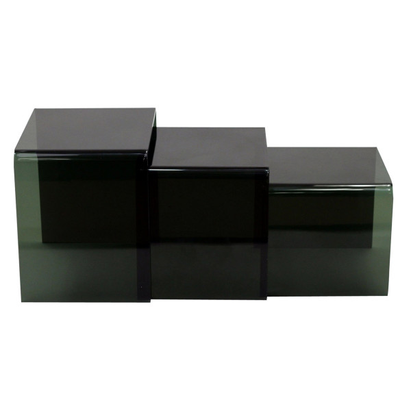 Three Funky Tables, Transparent Black
