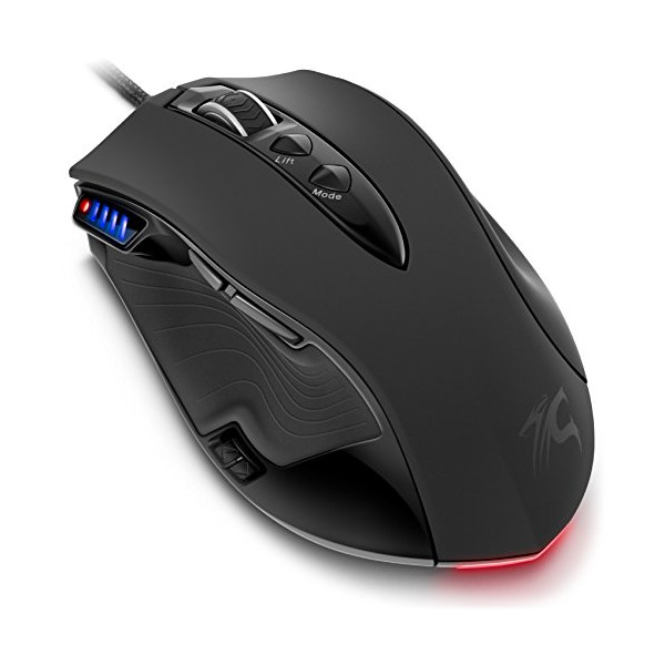 Gaming Mouse 8200 DPI Pc Sentey® Revolution Pro Computer Mouse Gaming 11750fps Laser Gamer Mouse Mmo Gaming Mouse Rts Fps Computer Gaming Mouse with Ceramic Foots - Laser Mouse - 9 Macro Configurable Buttons Gamer Mouse - Weight Tuning Cartridges / Rubber